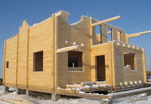 Строительство дома из клееного бруса зимой