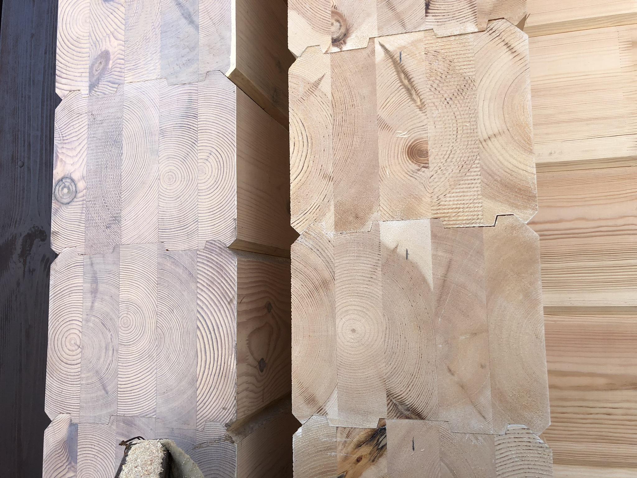 Экологичные стены дома из ценных пород древесины с целебными свойствами Сибири