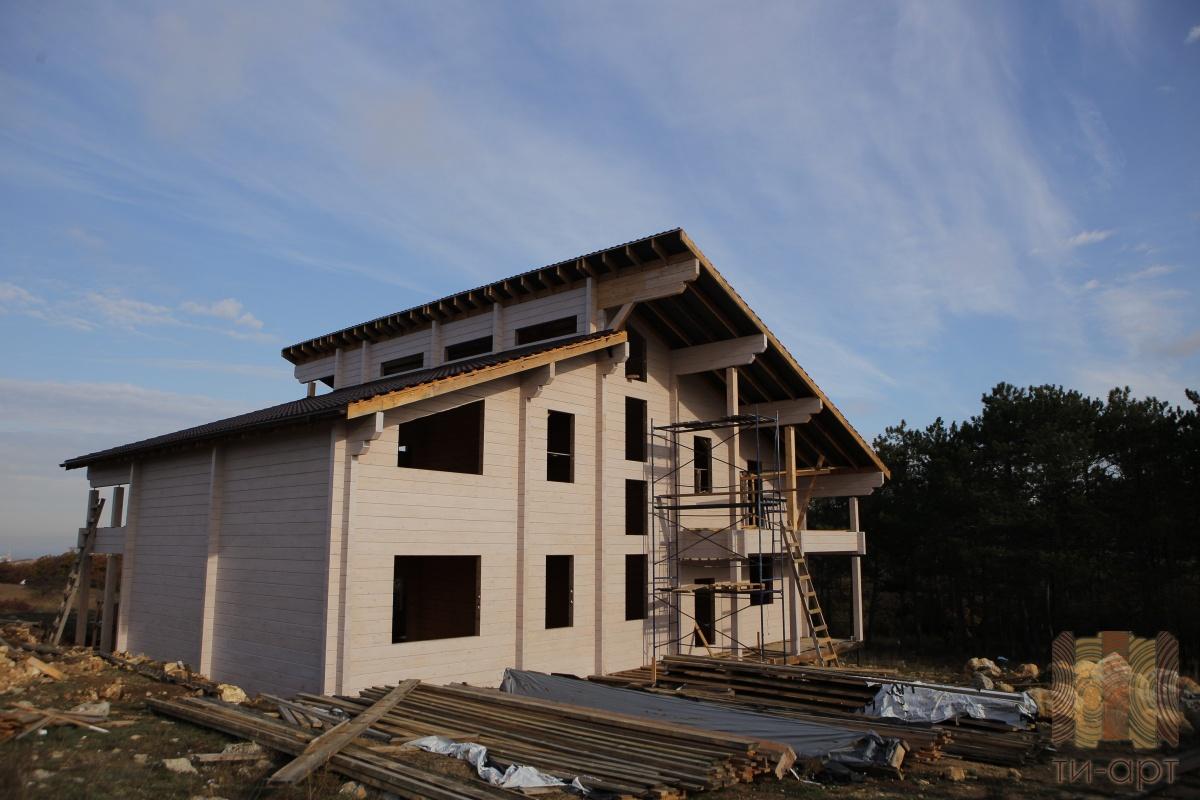 Современная технология монтажа конструкции дома КЛМ АРТ ТМ